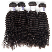 Top Raw Kinky Curly 4 Bundles with 13x4 Frontal