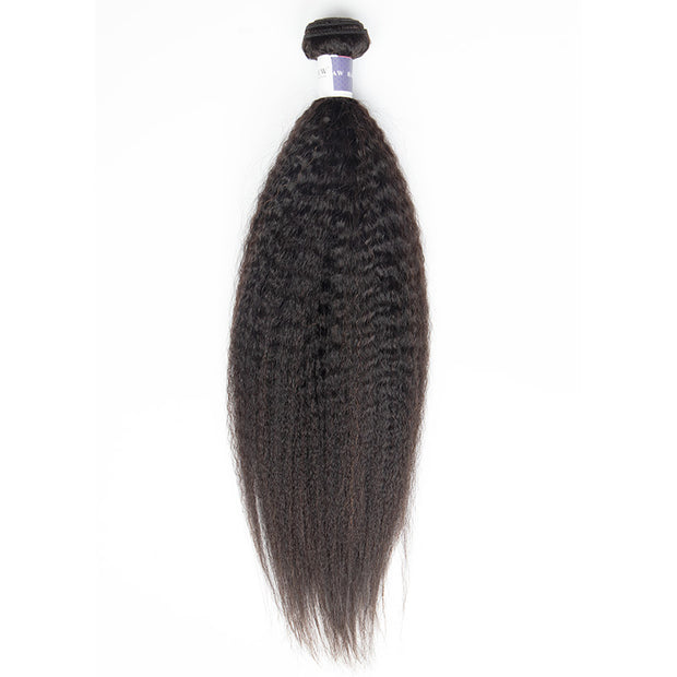 Top Raw Hair Kinky Straight Hair Extensions 1 Bundle