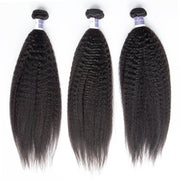 Top Raw Hair Kinky Straight Hair Extensions 3 Bundles