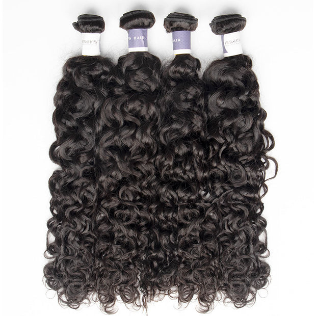 Top Raw Italian Curly 4 Bundles with 13x4 Frontal