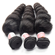 Top Virgin Hair Loose Wave Hair Extensions 3 Bundles