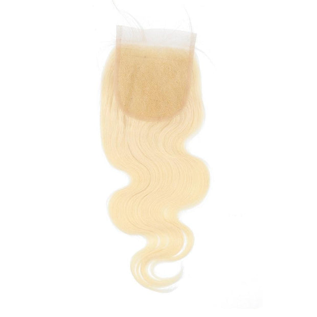 Nusface 613 Blonde Body Wave 3 Bundles with 4x4 Lace Closure Best Virgin Hair