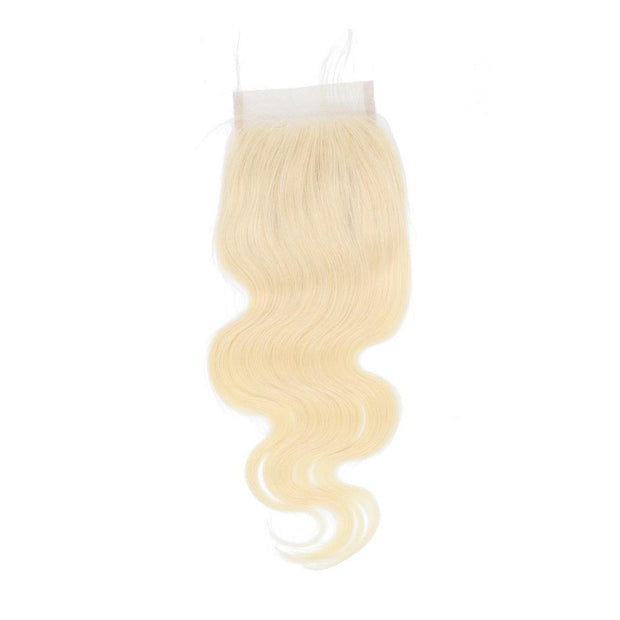 Nusface 613 Blonde Body Wave 4 Bundles with 4x4 Lace Closure Best Unprossed Hair
