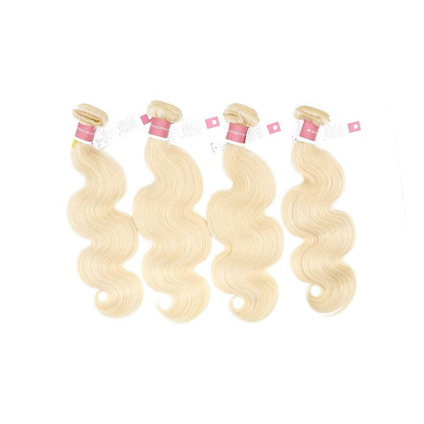 Nusface 613 Blonde Body Wave 4 Bundles with 4x4 Lace Closure Best Virgin Hair