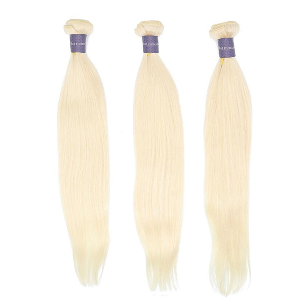 Nusface 613 Blonde Straight Hair 3 Bundles with 13x4 Lace Frontal Best Unprossed Hair