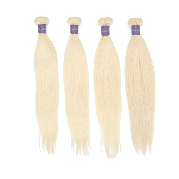 Nusface 613 Blonde Straight Hair 4 Bundles with 13x4 Lace Frontal Best Unprossed Hair