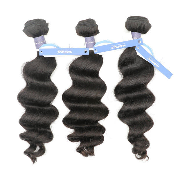 Nusface Brazilian Exotic Wave 3 Bundles with 13x4 Lace Frontal Best Unprossed Hair