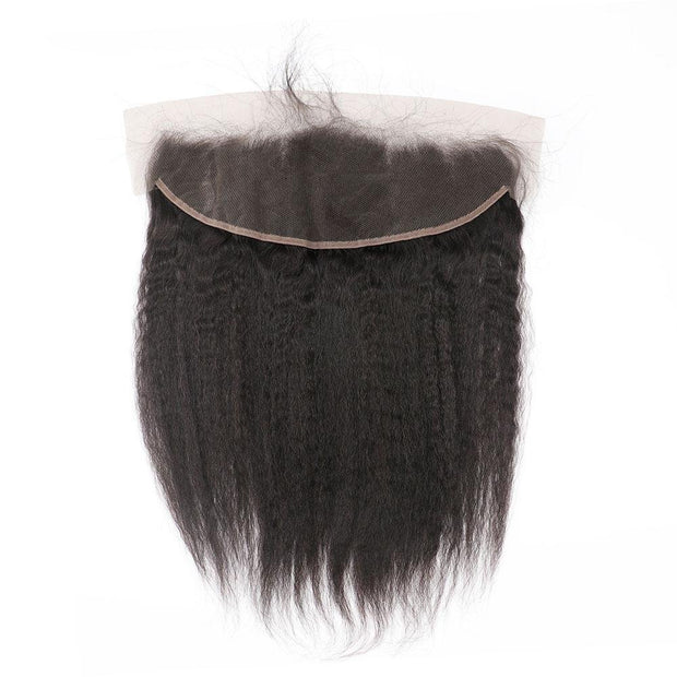 Nusface Brazilian Kinky Straight 3 Bundles with 13x4 Lace Frontal Best Virgin Hair