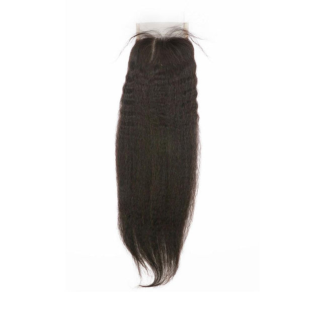 Nusface Brazilian Kinky Straight 4 Bundles with 4x4 Lace Closure Best Virgin Hair