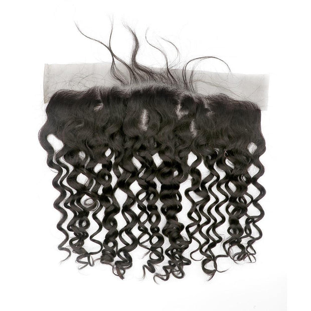 Nusface Brazilian Loose Curly 4 Bundles with 13x4 Lace Frontal Best Virgin Hair