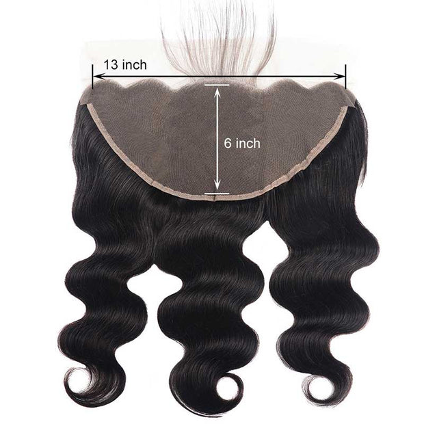 Top Virgin Body Wave 3 Bundles with 13x6 Frontal