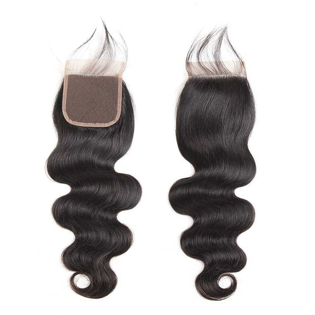 Top Virgin Body Wave 4 Bundles with 4x4 Closure