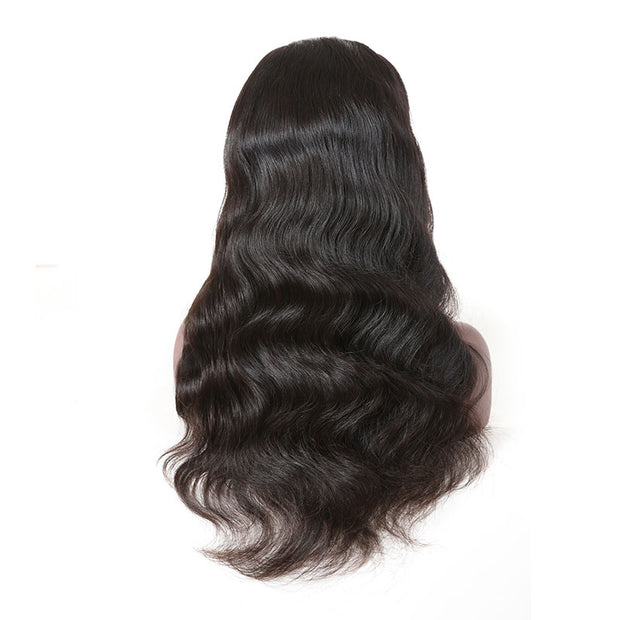 Top Virgin Body Wave Full Lace Wig 130 Density with Baby
