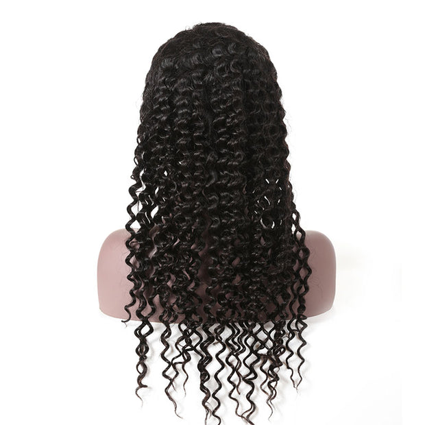 Top Raw 13x4 Deep Wave Lace Front Wig 150 Density with Baby Hair