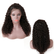 Top Virgin 13x4 Italian Curly Lace Front Wig 150 Density with Baby Hair