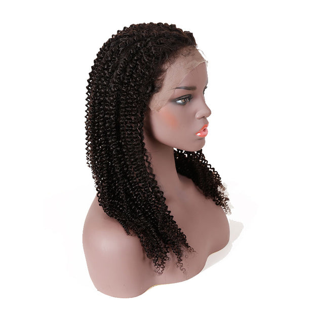 Top Virgin 13x6 Kinky Curly Lace Front Wig 150 Density with Baby Hair