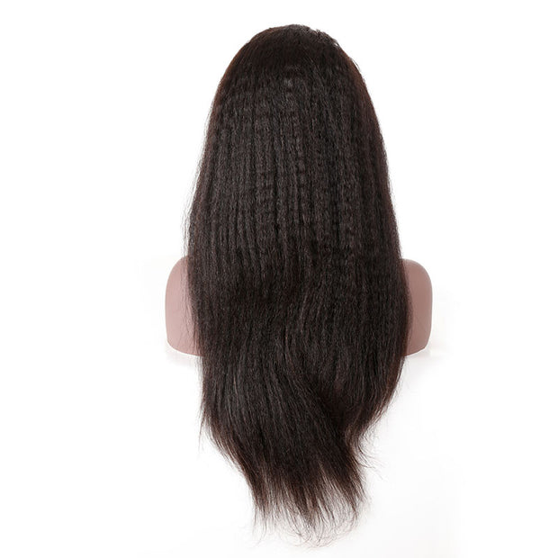 Top Virgin Kinky Straight 360 Lace Wig 180 Density with Baby Hair