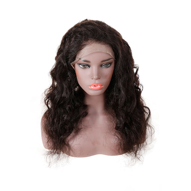 Top Virgin 13x4 Loose Wave Lace Front Wig 130 Density with Baby Hair