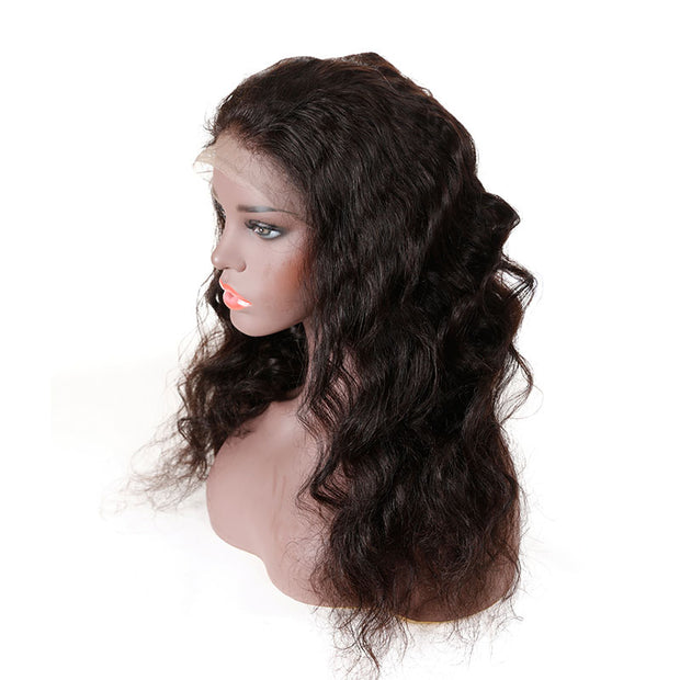 Top Virgin Loose Wave 360 Lace Wig 180 Density with Baby Hair
