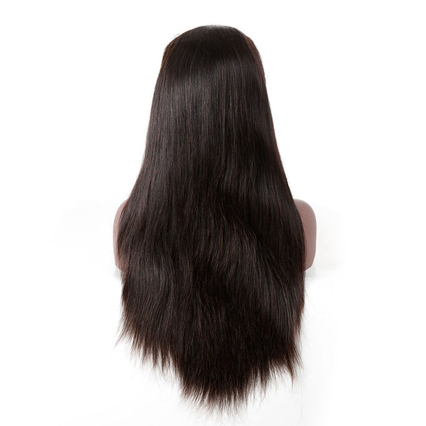 Top Virgin 13x4 Straight Hair Lace Front Wig 130 Density with Baby Hair