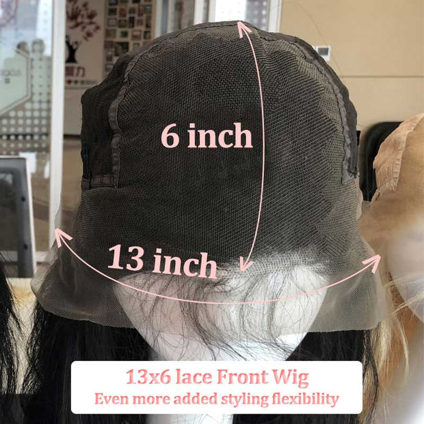 Top Raw Straight Hair Lace Front Wig 150 Density with Baby Hair