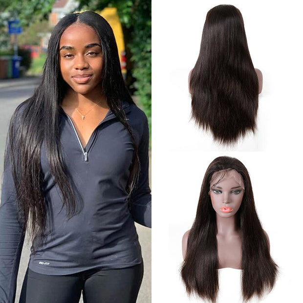 Top Raw 13x4 Straight Hair Lace Front Wig 130 Density with Baby Hair