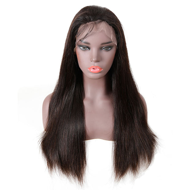 Top Raw Straight Hair Full Lace Wig 130 Density with Baby Hair