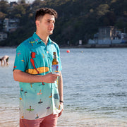 Surfer Dude Button-Up Shirt