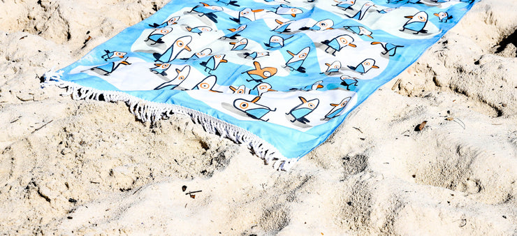 The Burnt Seagull Super Soft Beach Towel