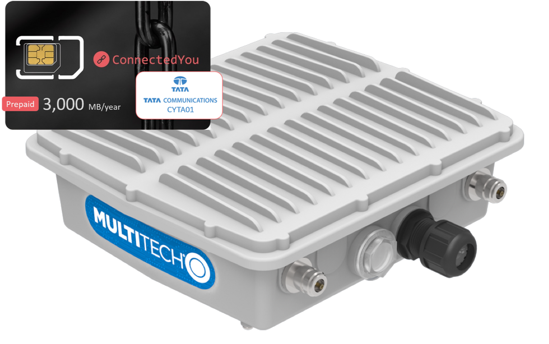 Multitech MultiConnect® Conduit IP67 Base Station (SIM bundle pack), 12 months 3,000MB data included