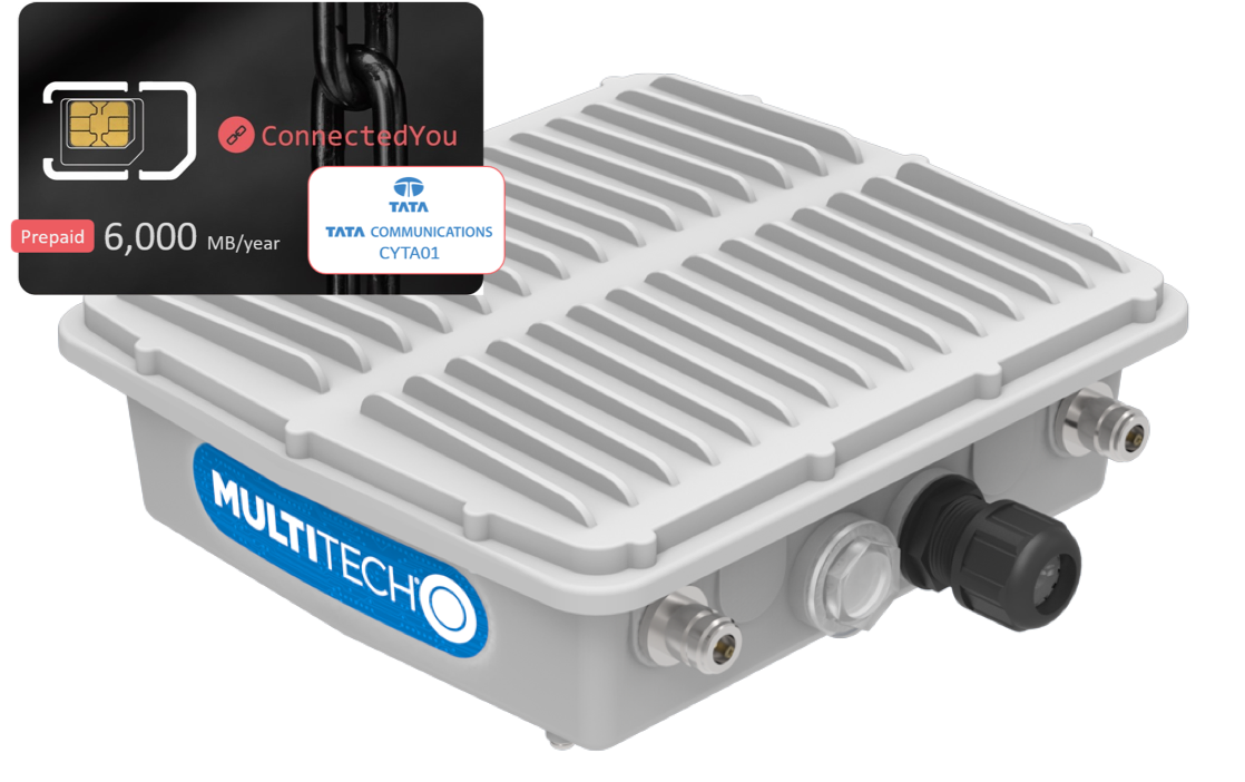 Multitech MultiConnect® Conduit IP67 Base Station (SIM bundle pack), 12 months 6,000MB data included