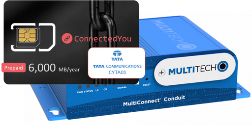 Multitech MultiConnect® Conduit (SIM bundle pack CYTA01), 12 months 6,000MB data included