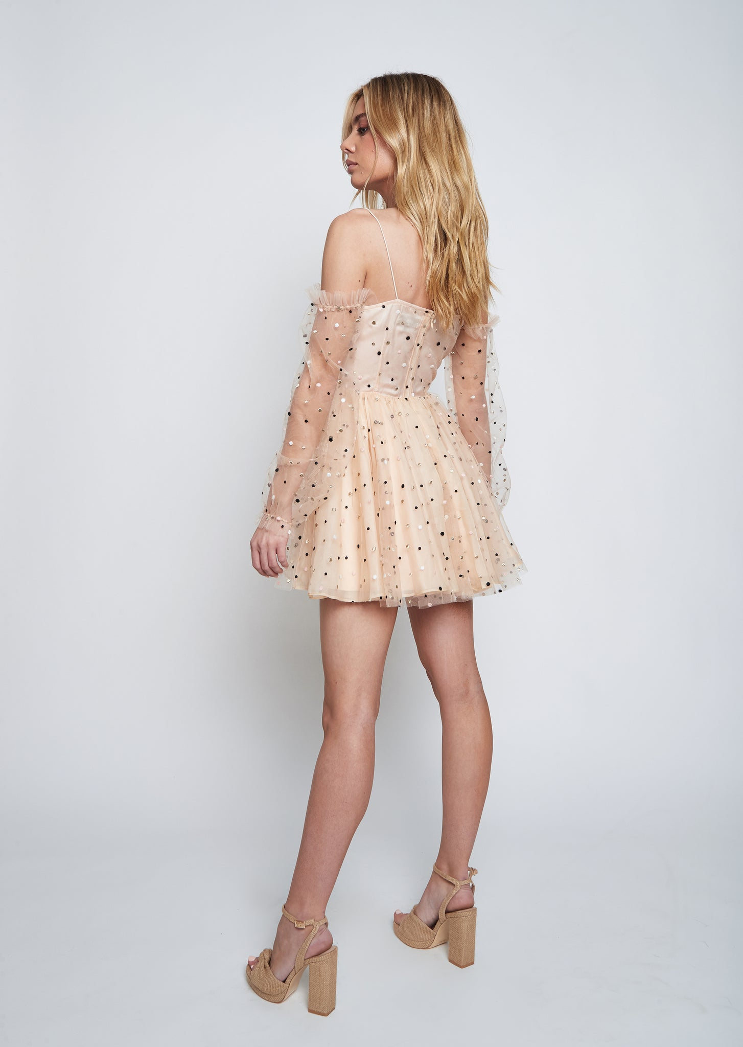CIERRA TULLE DRESS (TAN)