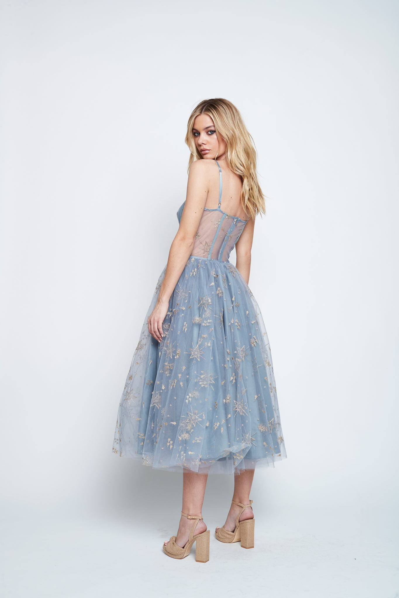 ORION TEA DRESS (BLUE)