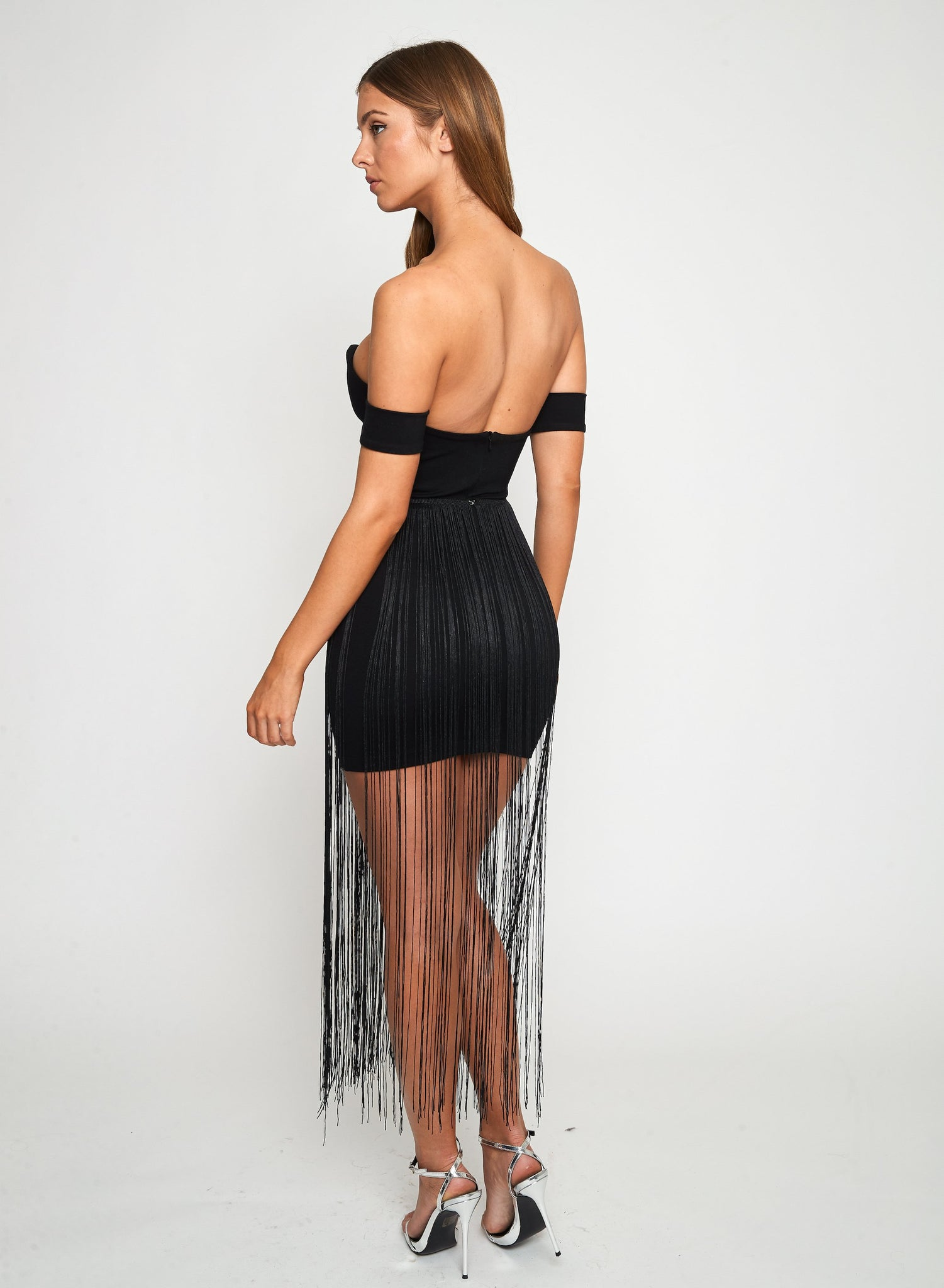 MARC DRESS w Fringe Belt