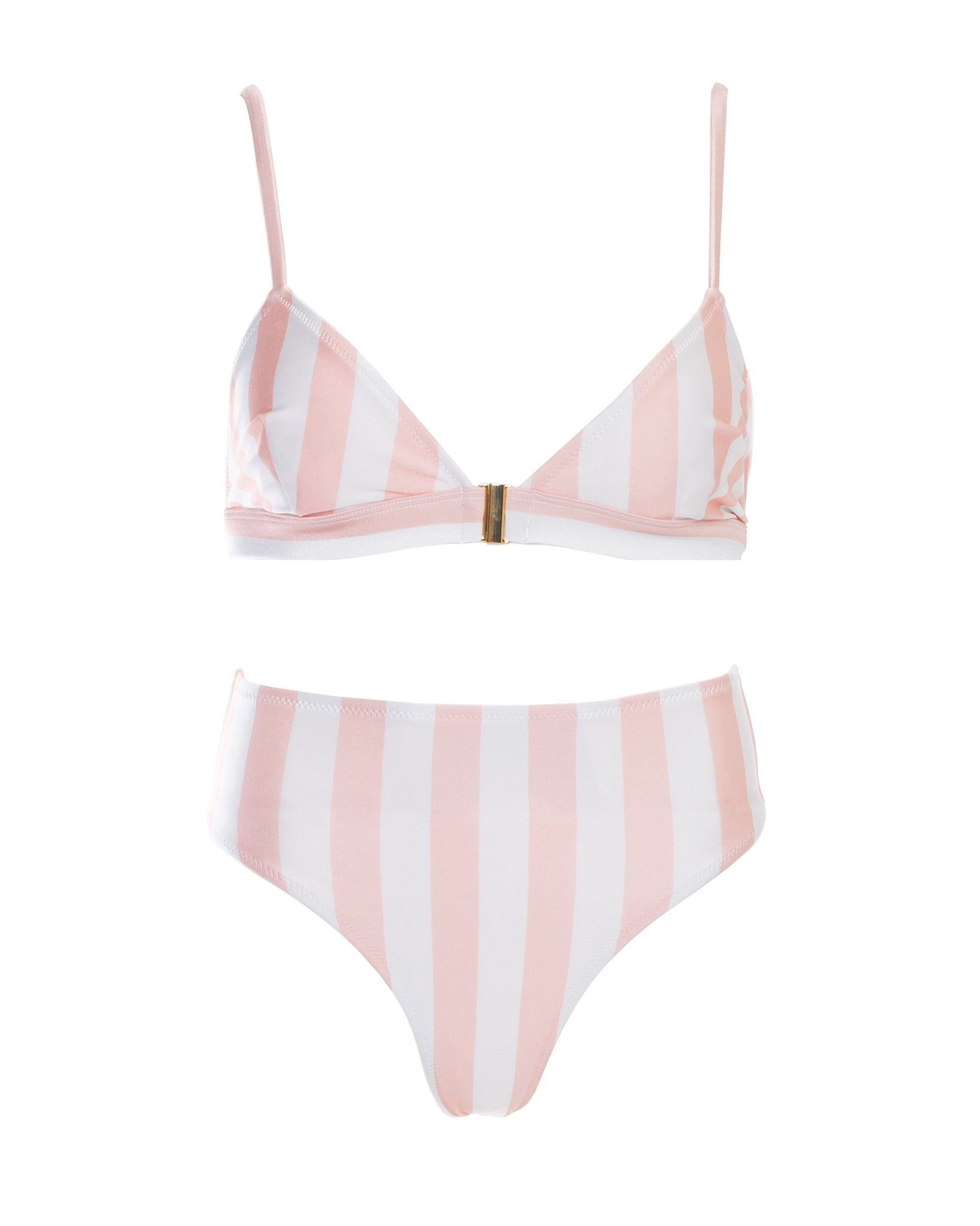 SUN HIGHWAISTED BOTTOM (BLUSH STRIPE)