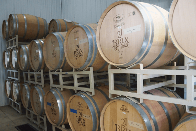 21 Brix Wine Barrels