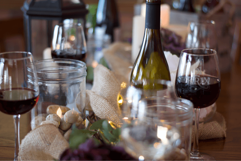 Tablescape at 21 Brix Winery