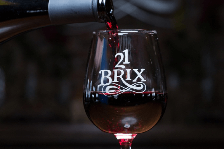 21 Brix Wine Glass