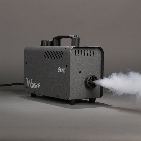 Antari W-508 fog machine in action shooting fog.