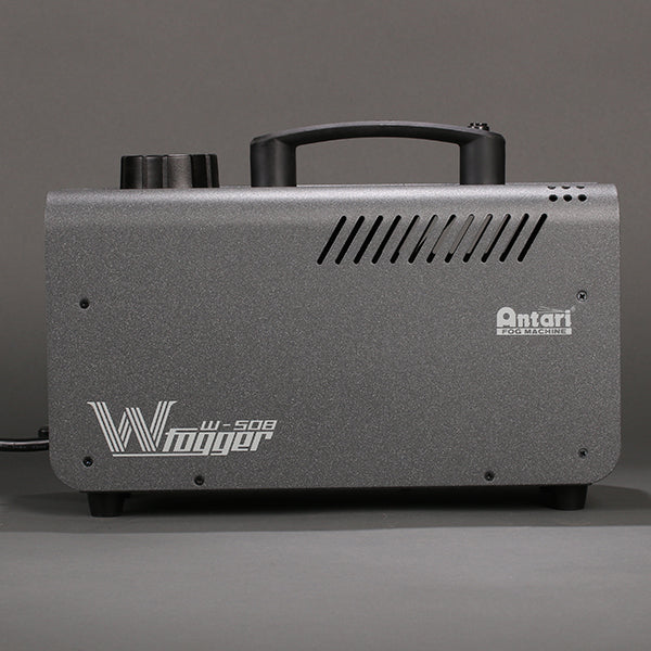 Side view of the Antari W-508 wireless fog machine.