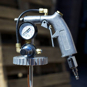 Blaster Dust Gun head featuring a pressure valve and flow control.