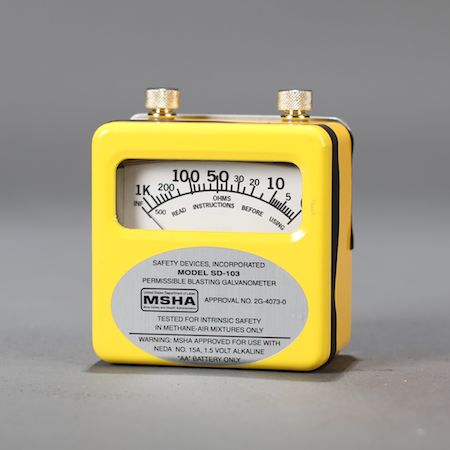 Safety Devices SD-103 galvanometer with meter.