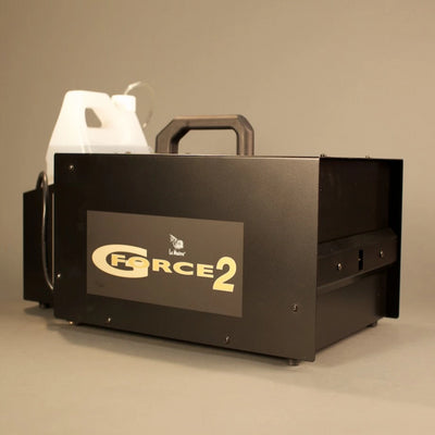 Le Maitre G Force 2 fog machine side view.