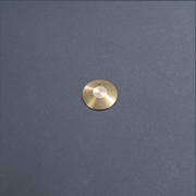Brass bullet hit shield - flat