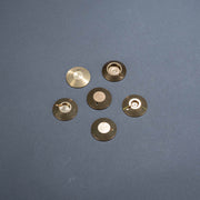 Brass bullet hit shield protective backings