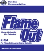 FlameOut 1000 flame retardant powder.