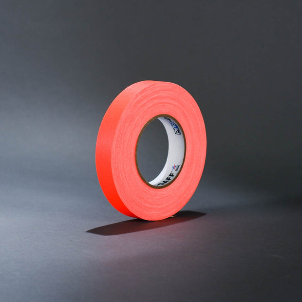 "Fluorescent orange 1"" gaffer's tape"