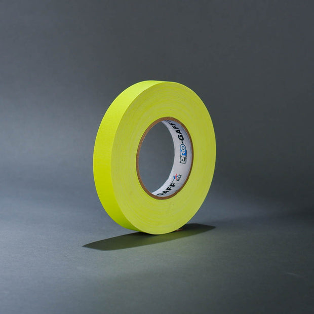 "Fluorescent yellow 1"" gaffer's tape"