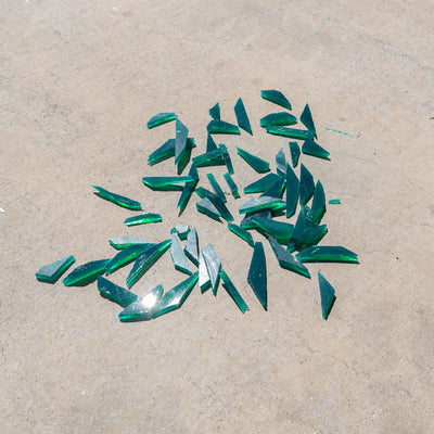 Rubber glass shards - green